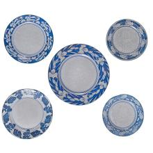 Dedham Pottery plates, group of five largest: 12