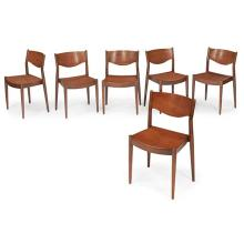 Borge Mogensen (1914-1972) for CM Madsens stacking dining chairs, set of six 18.5