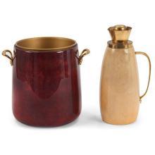 Aldo Tura (Italian, 20th c,) ice bucket and carafe bucket: 10