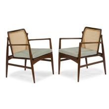 Ib Kofod-Larsen (1921-2003) for Selig chairs, pair 23.5''w x 24.5''d x 30.5''h each