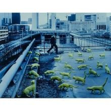 Sandy Skoglund, (American, b. 1946), Cats in Paris, 1993, color photograph, 17.5