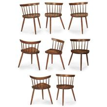 George Nakashima (1905-1990) for Nakashima Studio Mira dining chairs, set of eight 19