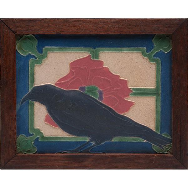 Rookwood Faience tile, matte glaze, Sallie Toohey