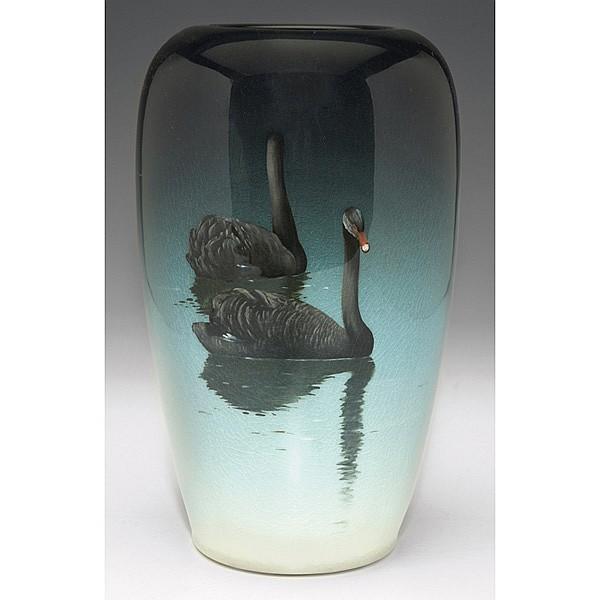 Rookwood vase, black Iris Glaze, Carl Schmidt, 1907