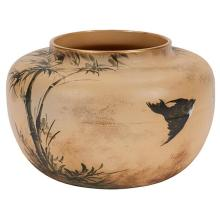 Matt Daly (1860-1937) for Rookwood Pottery Swallows and Bamboo vase, #131 9