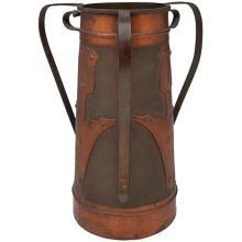 American Arts & Crafts three-handled vase 9.25