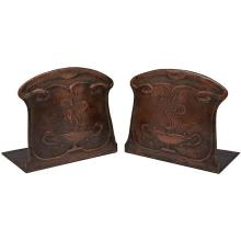 American Arts & Crafts bookends, pair 5.5