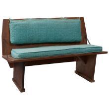 Frank Lloyd Wright (1867-1959) for the Unitarian Church church bench 42