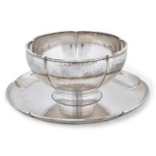 The Kalo Shop sauce bowl with attached undertray, #S1 7.5