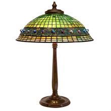 Tiffany Studios Geometric Jewel table lamp, base #532 21