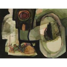 William Thomas Lumpkins, (American, 1908-2000), Presto, 1957, watercolor, 10.5