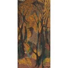 Leonard Maurer, (American, 1912-1976), Landscape, 1949, oil on canvas, 20