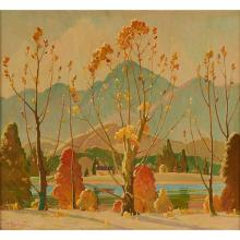 John Adams Spelman, (American, 1880-1941), Autumn Landscape, oil on canvas, 27