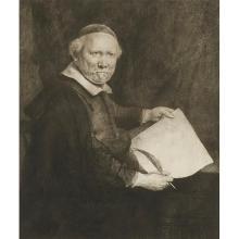 Rembrandt van Rijn, (Dutch, 1606-1669), Lieven Willemsz van Coppenol, Writing Master (the larger plate), 1658, etching and drypoint,...