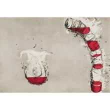 Miquel Barcelo, (Spanish, b. 1957), Jarra y vasos, etching and aquatint, 24.75