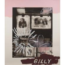 Julian Schnabel, (American, b. 1951), Billy's First Portrait of God, 1990, photo-lithograph, woodcut, etching and screenprint, 68
