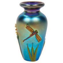 American Art Glass Dragonfly miniature vase .75