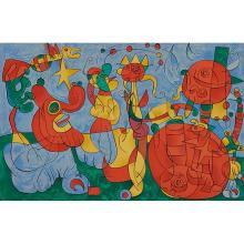 Joan Miro, (Spanish, 1893-1983), Ubi Roi (Plate III), 1966, color lithograph, 16