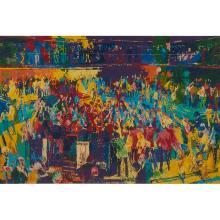 LeRoy Neiman, (American, 1921-2012), Chicago Board of Trade, 1980, color screenprint, 25