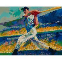 LeRoy Neiman, (American, 1921-2012), Joe DiMaggio, color screenprint, 30.5