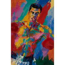 LeRoy Neiman, (American, 1921-2012), Muhammad Ali, color screenprint, 41.5