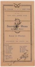 RAAF Observers' Course menu, 1942