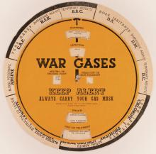 War Gases. Always carry your Gas Mask