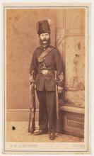 Carte de visite of a man in uniform