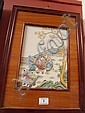 Four oriental framed porcelain plaques of children