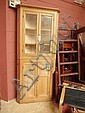 A 19thC glazed corner cabinet surmounting a 19thC