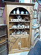 Geo III pine corner cupboard with an open arch