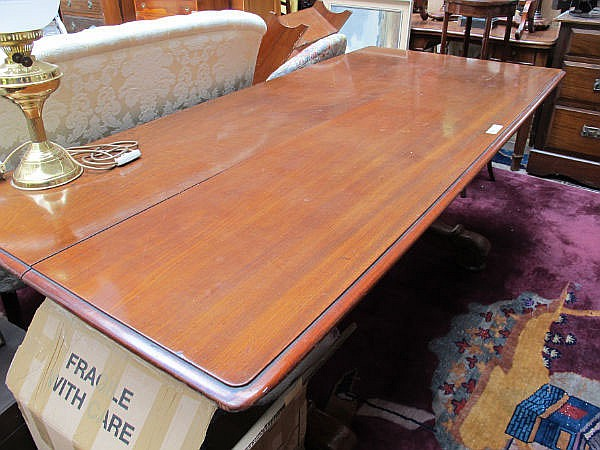 A William IV mahogany club table. Removed from the