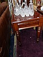 An early Victorian mahogany drop-leaf table with