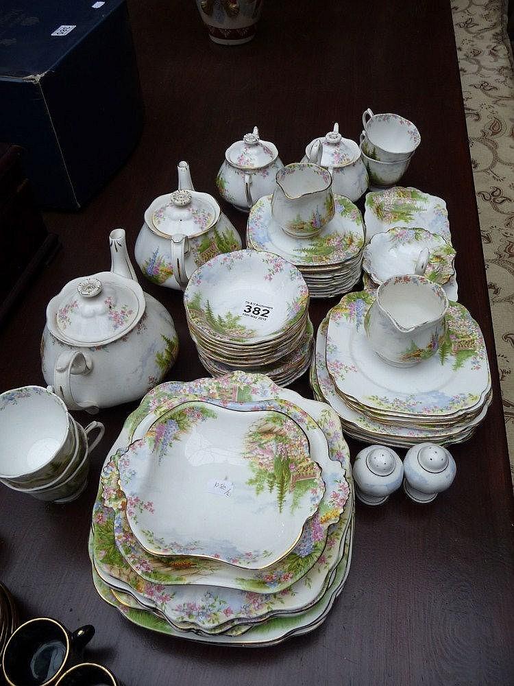 An extensive part tea service. Royal Albert