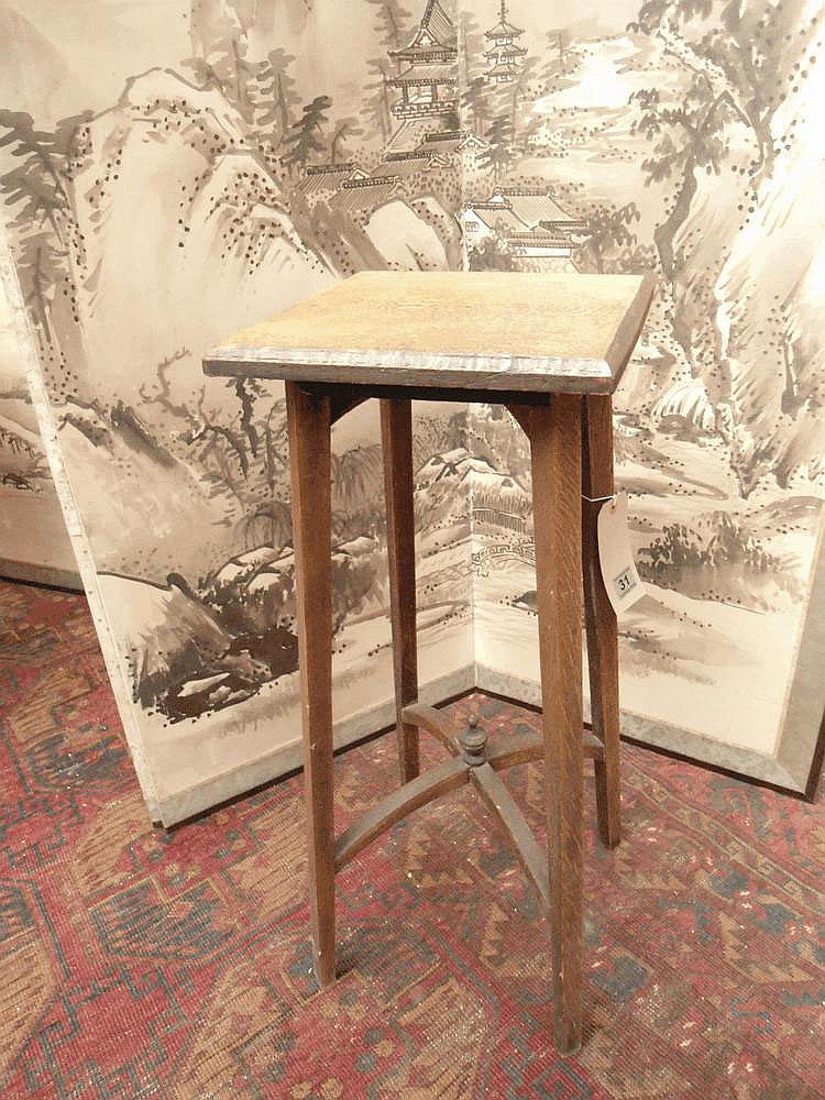 An early C20 oak occasional table