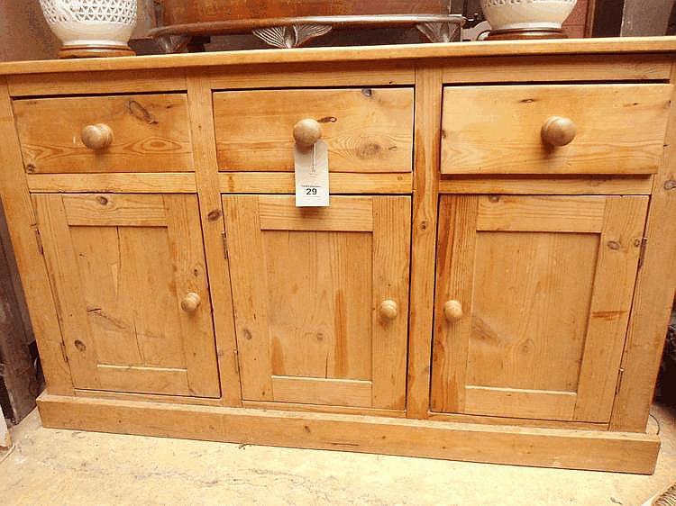 19thC pine dresser base