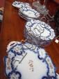 A 19thC dessert service comprising 8 plates & 5