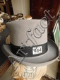A grey top hat