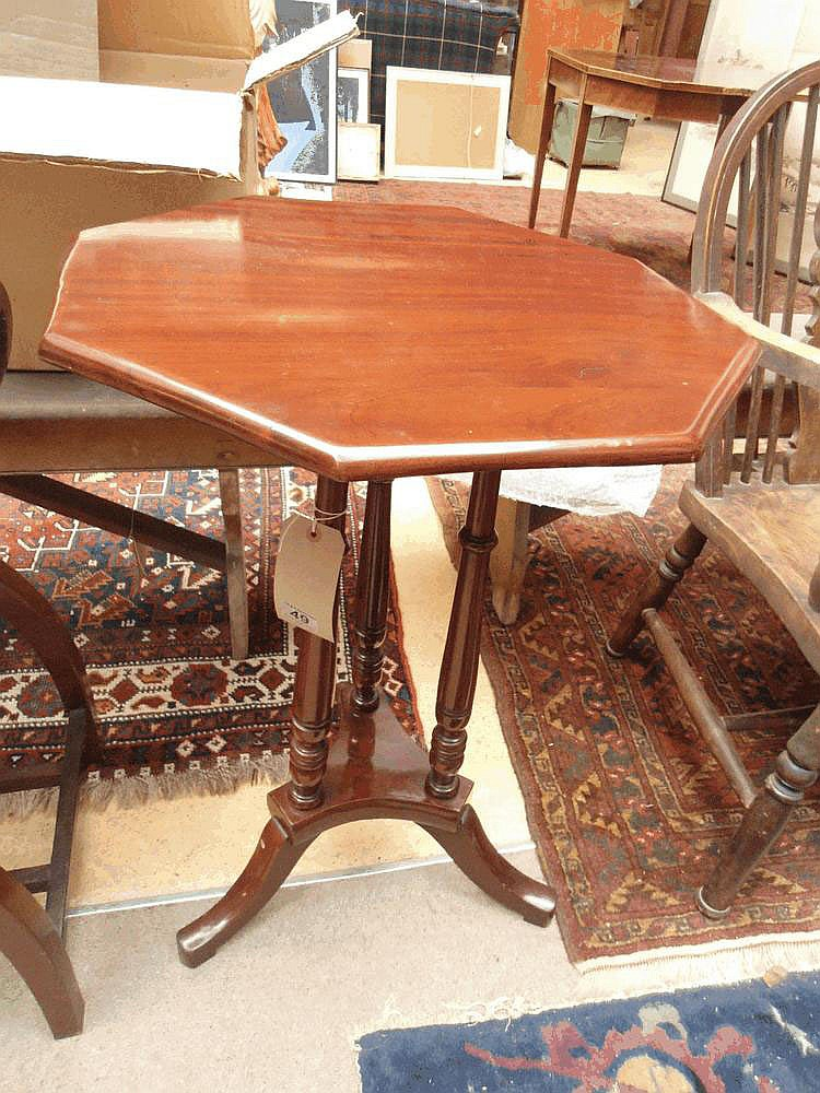 A late Victorian octagonal occasional table