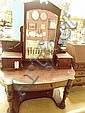 Late Victorian dressing table and mirror