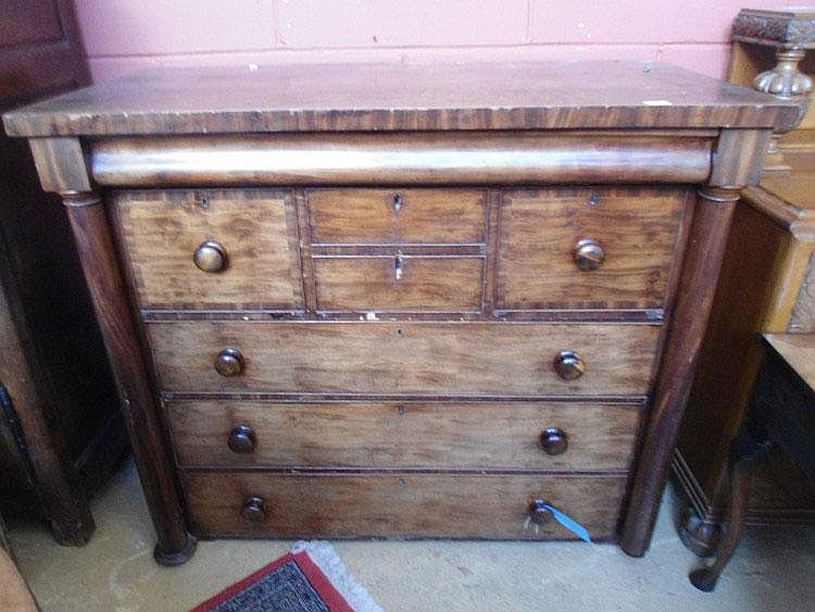 A mid 19th Century Scottish mahogany chest of
