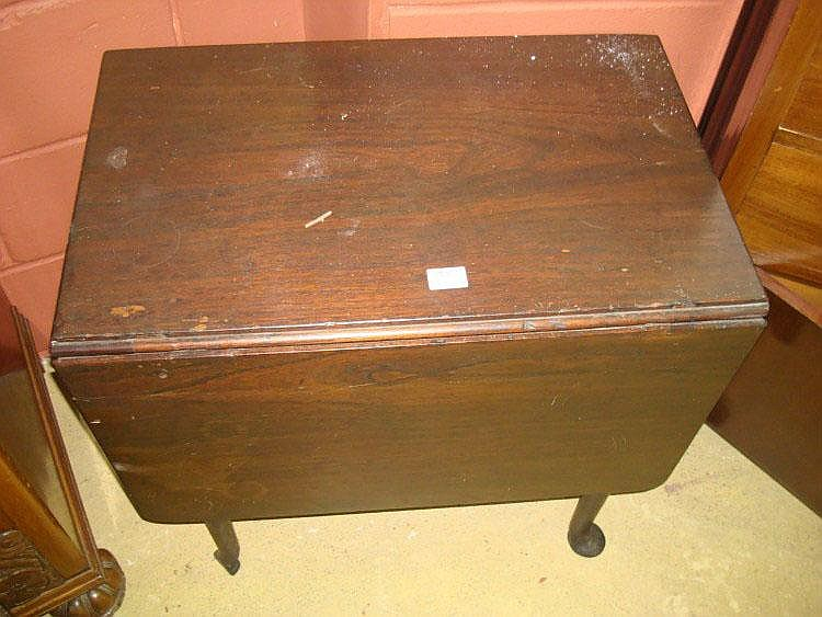 An 18th Century single drop leaf mahogany table