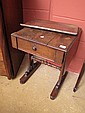 A William IV mahogany drop leaf work table a/f
