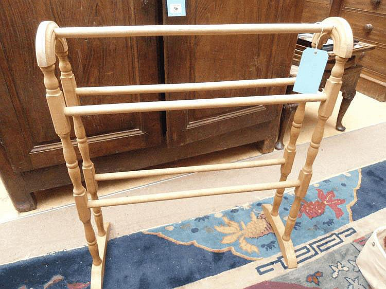 A beech towel rail