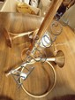 A brass coach horn and 2 bugles