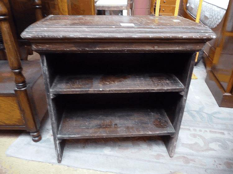 Small pitch pine bookcase
