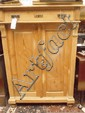 A late 19thC Art Nouveau press cupboard with 2