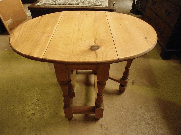 A small pine gateleg table