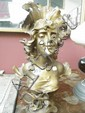An early 20thC spelter bust of L'Ete