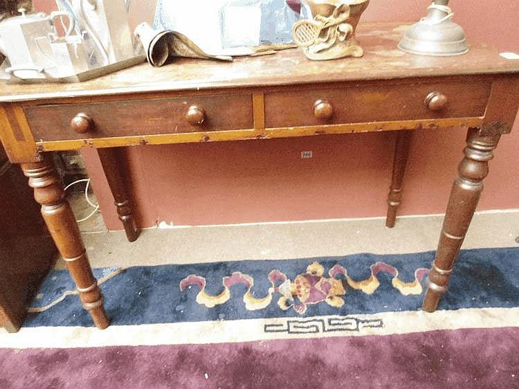 A 19th century mahogany writing desk